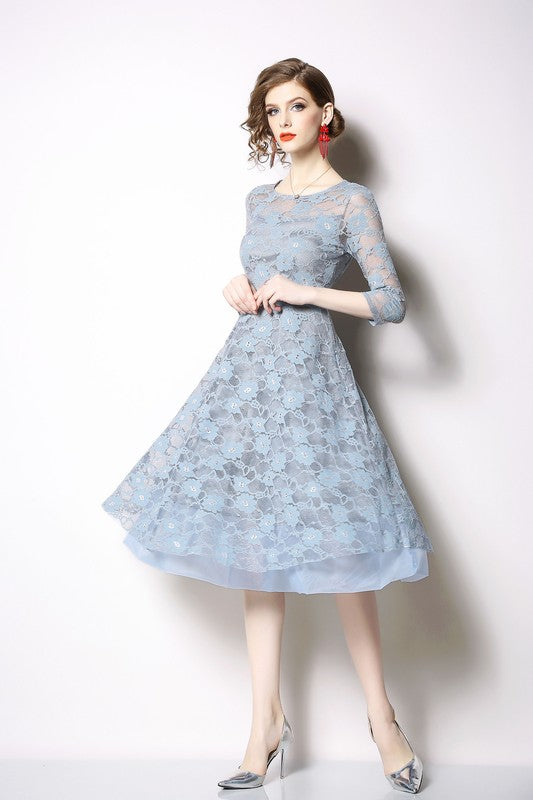 Light Blue Lace Dress