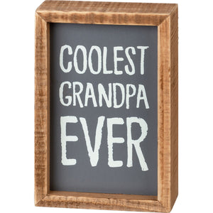 Inset Box Sign - Coolest Grandpa Ever