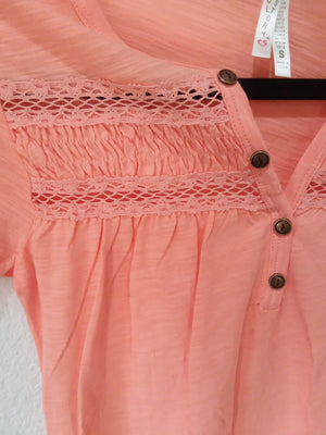 Pink 3 botton lace