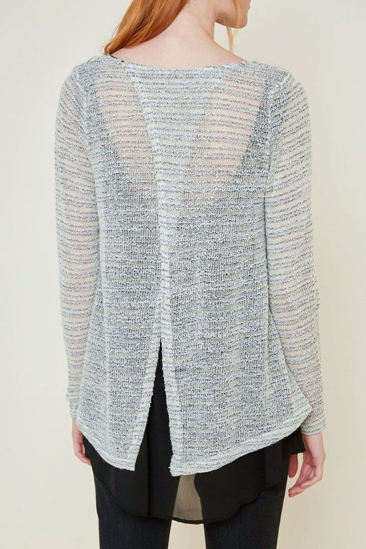 Uptown Layered Sweater Top