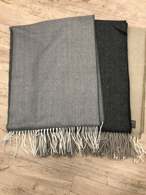 Softer Than Cashmere? Grey Herringbone