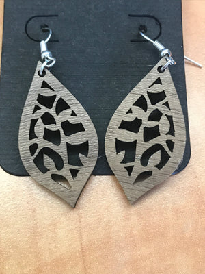 Tree of Love Wooden Earrings