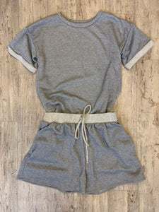 """Stella"" Grey Pajama Set"