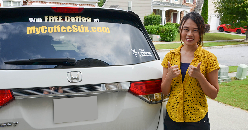 How to Install #MyCoffeeStix Car Decal