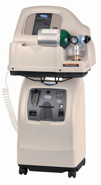 Invacare Perfecto2 Oxygen Concentrator shown with the Invacare Homefill compressor