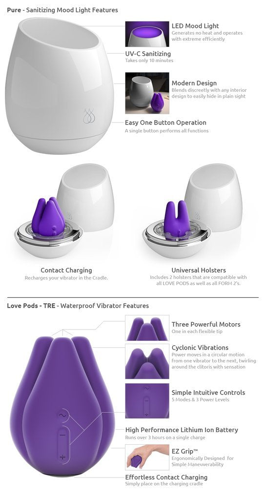 Pure UV Sanitizing Mood Light Plus Love Pod Tre