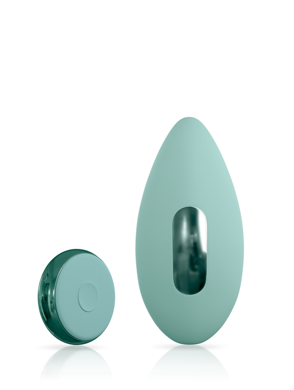 Ascend 3 with remote clitoral vibrator in JJ-cactus green front facing view