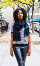 Load image into Gallery viewer, Leather Fringe Scarf