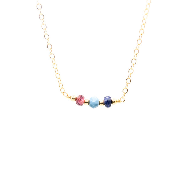 Teeny Tiny Birthstone Necklace