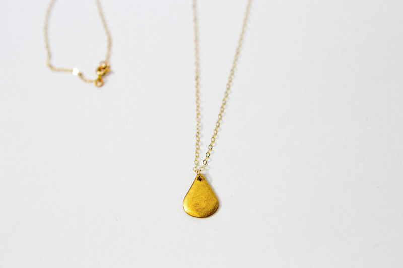 Golden Raindrop Necklace