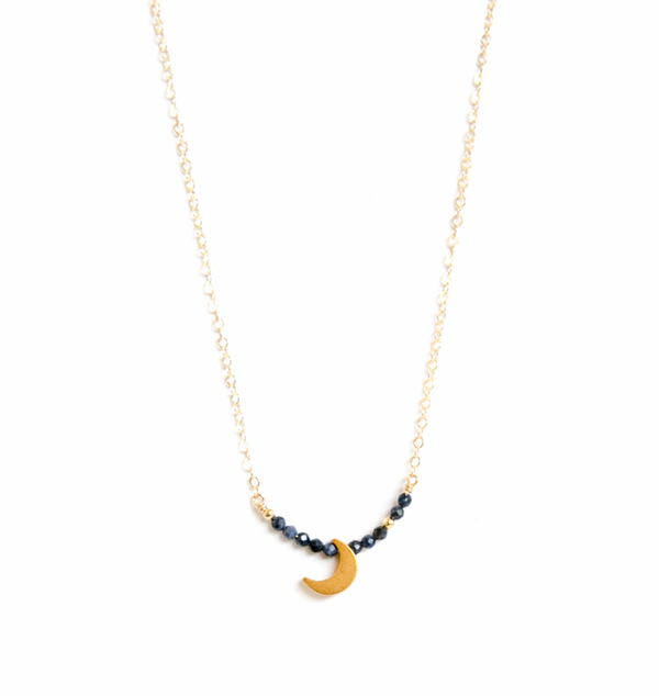 Sapphire Moon Necklace
