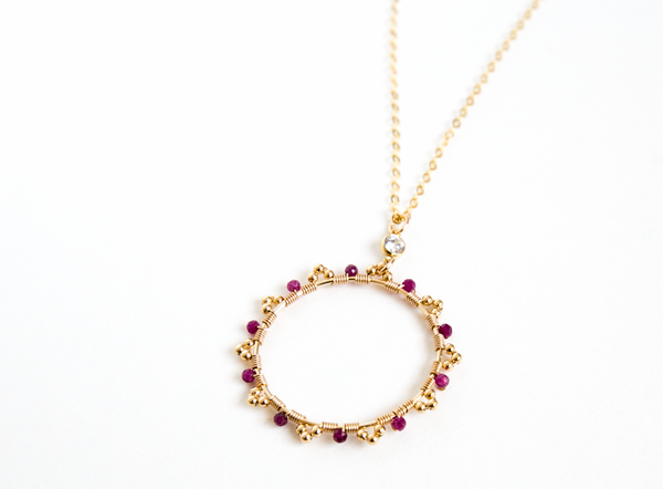 Ruby Wreath Necklace