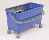 Plastic Bucket System with casters and wringer sieve
