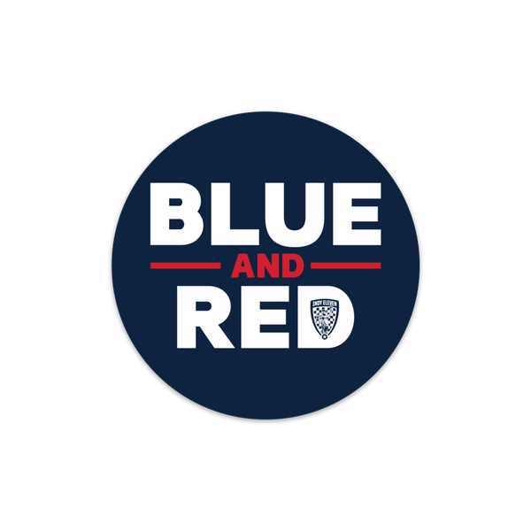 Blue & Red Sticker