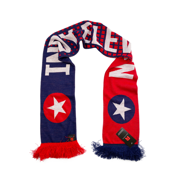 Indy is Red & Blue Scarf