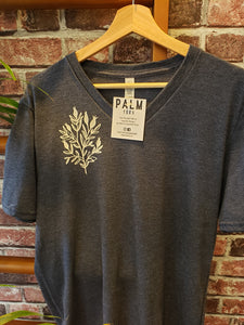 Palm Tees - Navy V-Neck T-Shirt (More Designs)