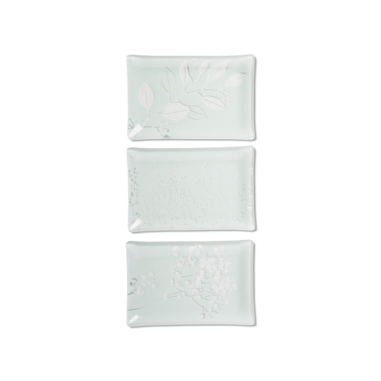 Tag Leaf Vine and Wildflower Glass Plates (3 Styles)