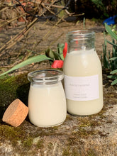 Load image into Gallery viewer, Handmade Milk Bottle with Natural cork lid Scented Candle - Lime, Basil And Manderin