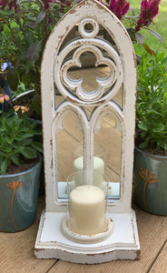 Arched Mirror And Candle Holder