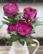 Load image into Gallery viewer, Beautiful Faux Peony Spray - Abigailshome
