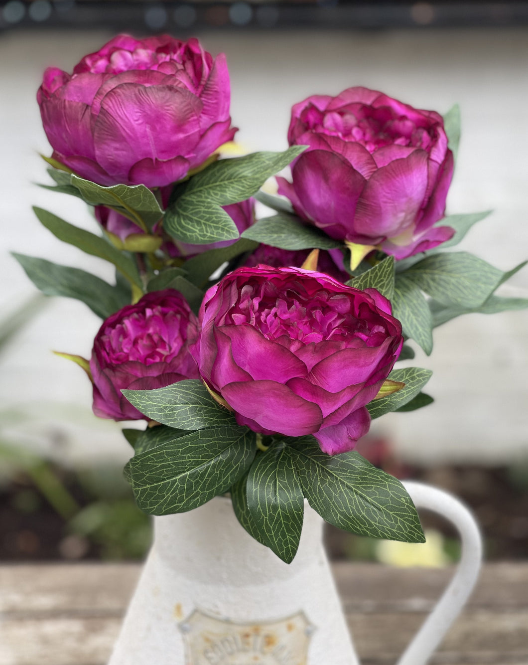 Beautiful Faux Peony Spray - Abigailshome