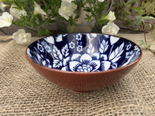 Load image into Gallery viewer, Blue and White Flower Pattern Ceramic Bowl - Large - Abigailshome