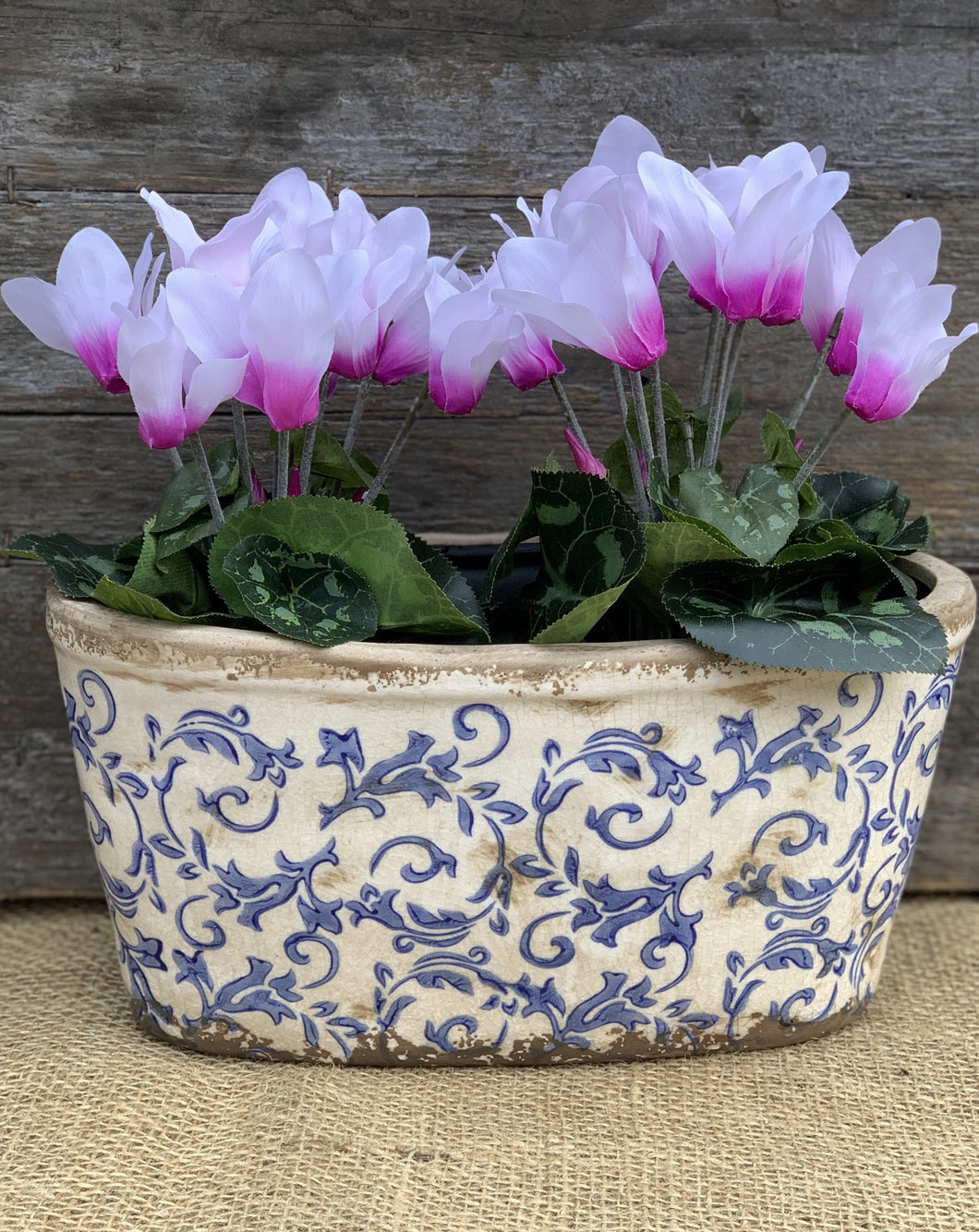 Blue Ceramic Planter - Oval - Abigailshome