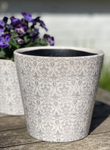 Load image into Gallery viewer, Ceramic Hand painted Floral Pots - Slate Grey - Abigailshome