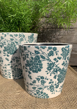 Load image into Gallery viewer, Ceramic Handpainted Floral Pots - Green - Abigailshome