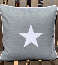 Load image into Gallery viewer, Grey Square Cushion With White Star - Abigailshome