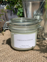 Load image into Gallery viewer, Handmade Glass Clip Style Jar Candle - Limeleaf & Ginger - Abigailshome