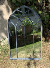 Load image into Gallery viewer, Medium Metal Gothic Arched Mirror - Abigailshome