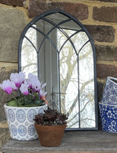 Load image into Gallery viewer, Metal Gothic Arched Mirror - Abigailshome