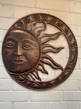 Load image into Gallery viewer, Metal Sun Wall Plaque. - Abigailshome