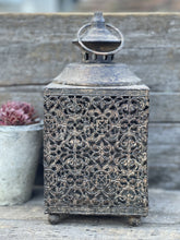Load image into Gallery viewer, Moorish Square Metal Lantern - Abigailshome