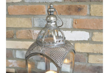 Load image into Gallery viewer, Moroccan Style Silver Metal Lantern - Abigailshome