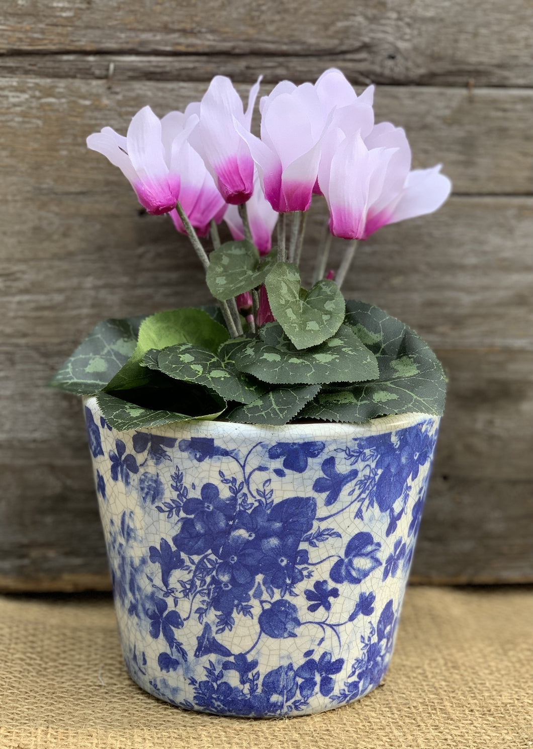 Old Style Dutch Floral Pots - Blue - Abigailshome