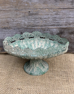 Oval Fluted Antique Green Dish - Abigailshome