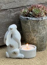Load image into Gallery viewer, Pair Of Hare Tea Light Holders - Abigailshome