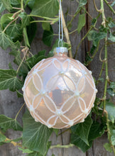 Load image into Gallery viewer, Pink Embossed Glass Bauble - Abigailshome