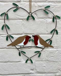 Robins In A Heart Wreath - Abigailshome