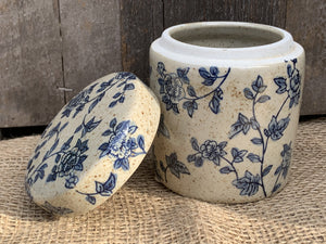 Small Ceramic Flower Pattern Pot - Abigailshome
