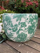 Load image into Gallery viewer, Small Ceramic Green and White Flower Vase - Abigailshome