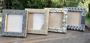 Small Square Photo Frame - Diamonds - Abigailshome