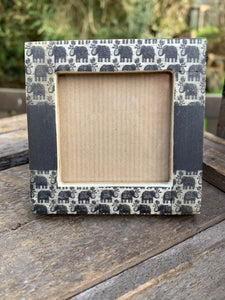 Small Square Photo Frame - Elephants - Abigailshome