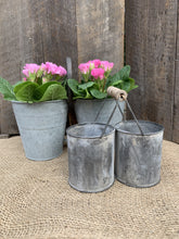 Load image into Gallery viewer, Small Twin Zinc Pots with Handle - Abigailshome