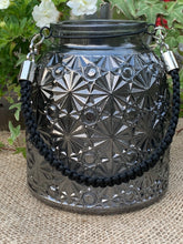 Load image into Gallery viewer, Smokey Grey Glass Hurricane Jar - Abigailshome