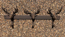 Load image into Gallery viewer, Triple Stag Coat Hooks - Abigailshome