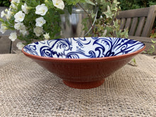 Load image into Gallery viewer, White and Blue Flower Pattern Ceramic Bowl - Small - Abigailshome