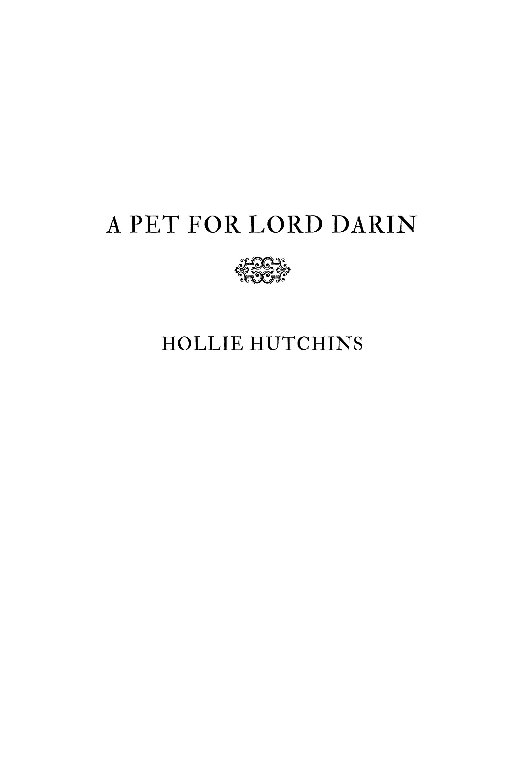 A Pet For Lord Darin